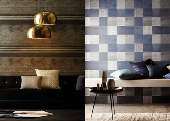 1-Anthology-02-blue-checked-wallpaper-gold-silver-bronze-textured-wallpaper-new1