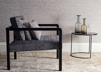 Perla Wallcovering Anthracite