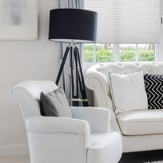 luxury white chair in living room with at home